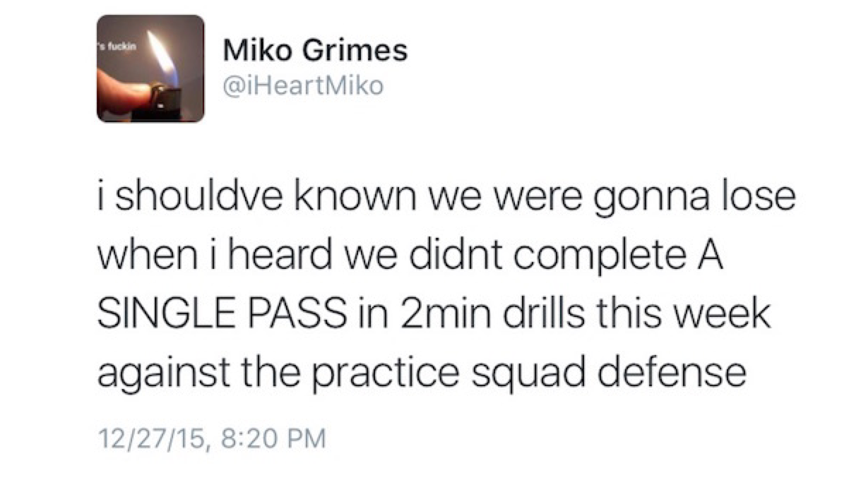 Miko Grimes Gives Zero Fucks
