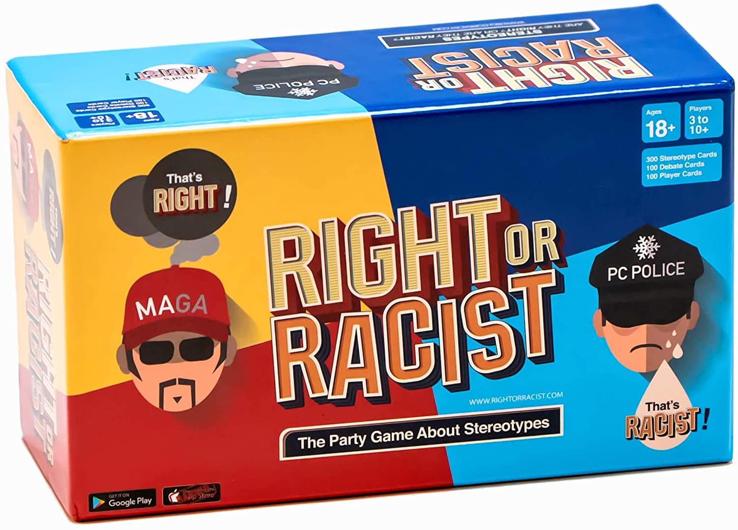 Right or Racist Adult Party Game